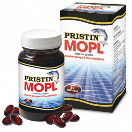 PRISTIN MOPL Fish Oil 650mg (Marine Omega-3 Phospholipids) | Omega 3