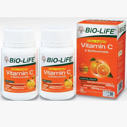 BiO-LiFE Non-Acidic Vitamin C & Bioflavonoids (2X30S)