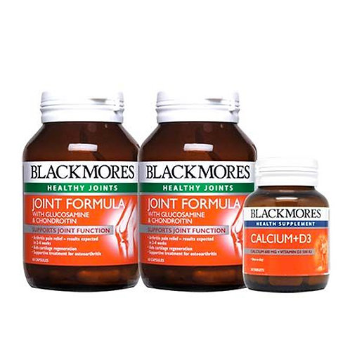Blackmores Joint Formula with Glucosamine & Chondroitin (2x60S) + D3 500IU (30S) | Joint Health