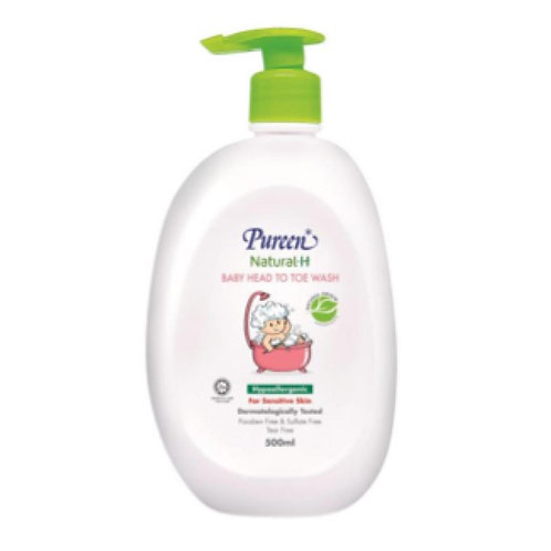 Pureen Natural-H Baby Head to Toe Wash 500ML