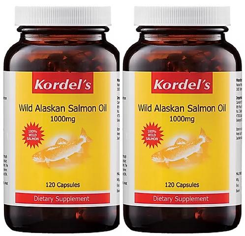 Kordel's Wild Alaskan Salmon Oil 1000mg (2X120S)