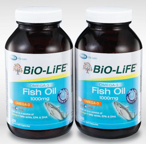 BiO-LiFE Omega-3 Fish Oil 1000mg (2x200S)   General Health