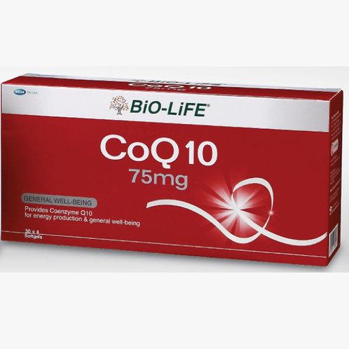 BiO-LiFE CoQ10 75mg (4X30S) - Box View