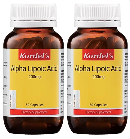 Kordel's Alpha Lipoic Acid 200mg (2X50S) - Antioxidant
