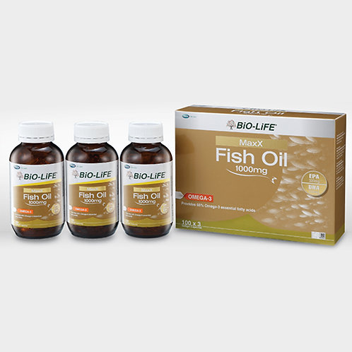 BiO-LiFE MaxX Fish Oil 1000mg (3X100S) | General Health