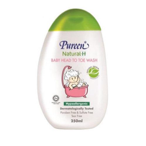 Pureen Natural-H Baby Head to Toe Wash 250ML