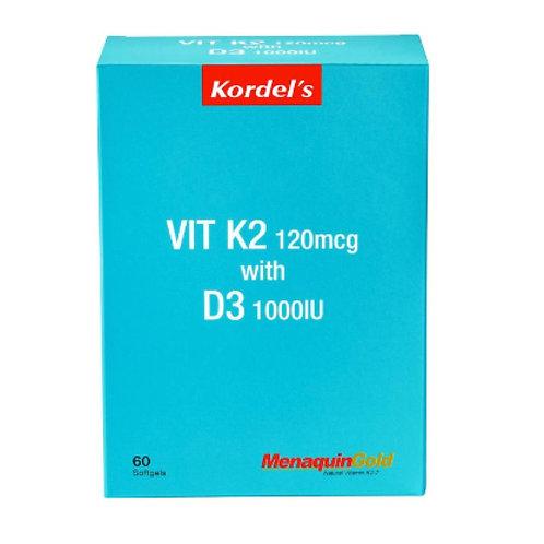 Kordel's Vit K2 120mcg with D3 1000IU (60S) - Heart health