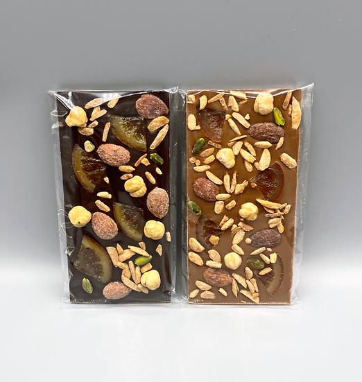 Tablette de chocolat Mendiant