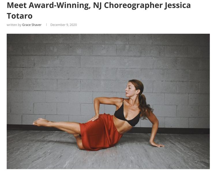 Meet Award-Winning, NJ Choreographer Jessica Totaro (for The Digest)