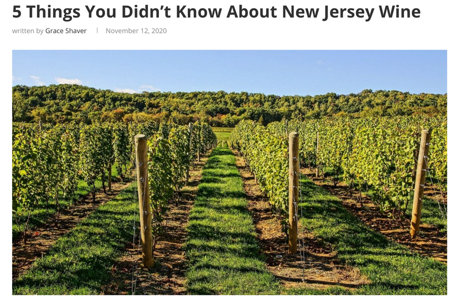 5 Things You Didn't Know About New Jersey Wine (for The Digest)