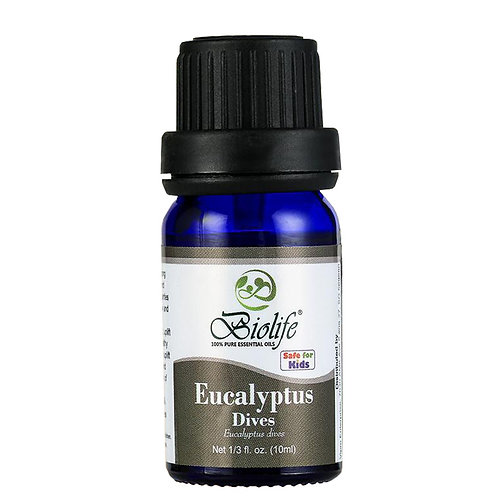 BIOLIFE Pure Essential Oil - Organic Eucalyptus Dives (10ml)