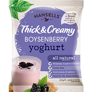 HANSELLS Thick & Creamy Boysenberry Yoghurt