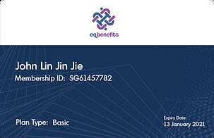 EQ BENEFITS - Membership Card (Blue) Wit