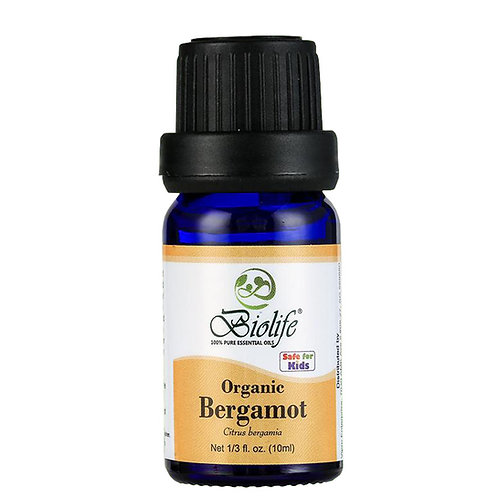 BIOLIFE Pure Essential Oil - Organic Bergamot (10ml)