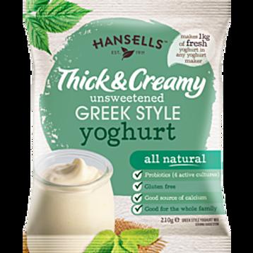 HANSELLS Thick & Creamy Unsweetened Greek Style Yoghurt