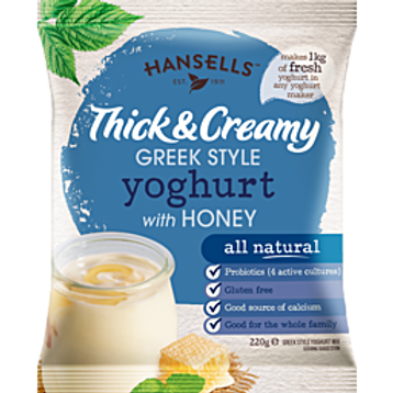 Hansells Thick & Creamy Greek Style Honey Yoghurt
