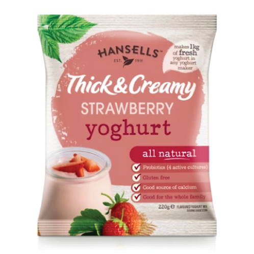 HANSELLS Thick & Creamy Strawberry Yoghurt