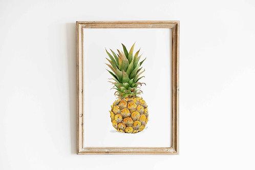 Watercolor Pineapple Giclee Print