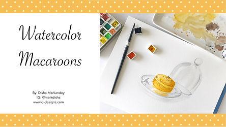 Watercolor Macaroons