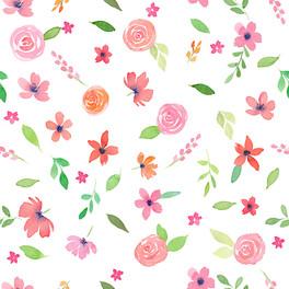 Watercolor Pink Florals