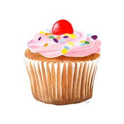 Pink Cream Muffin
