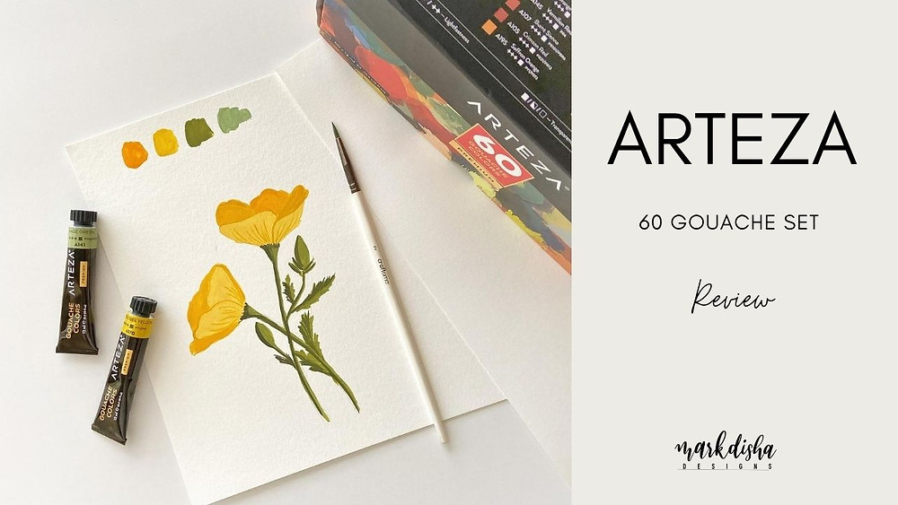 Arteza Gouache 60 Tube set Review
