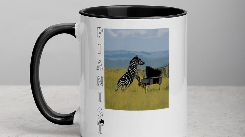 The Zebra Pianist Art mug
