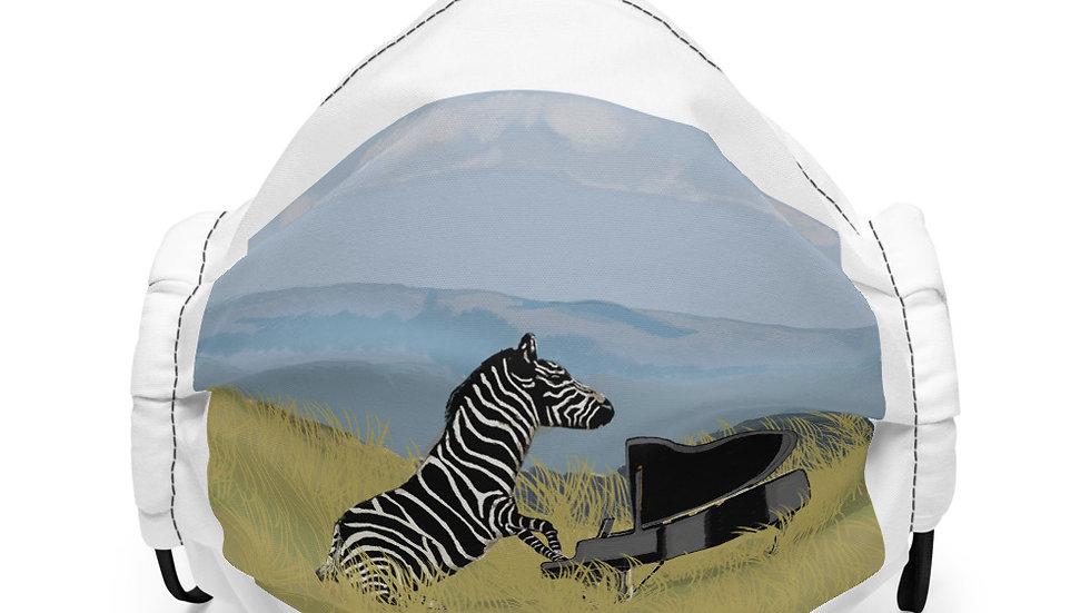 Zebra Pianist - Premium face mask