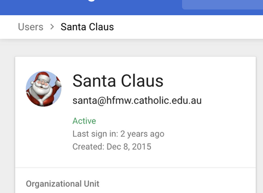 Students can now email Santa!