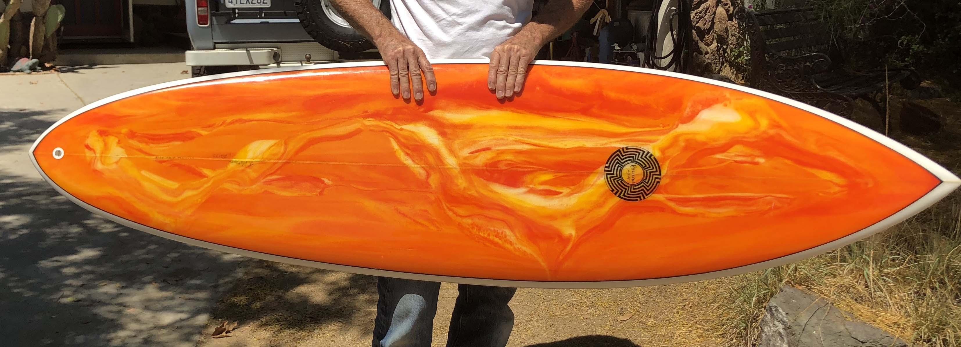 Flame swirl deck