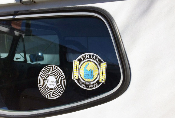 pelican and finjak stickers