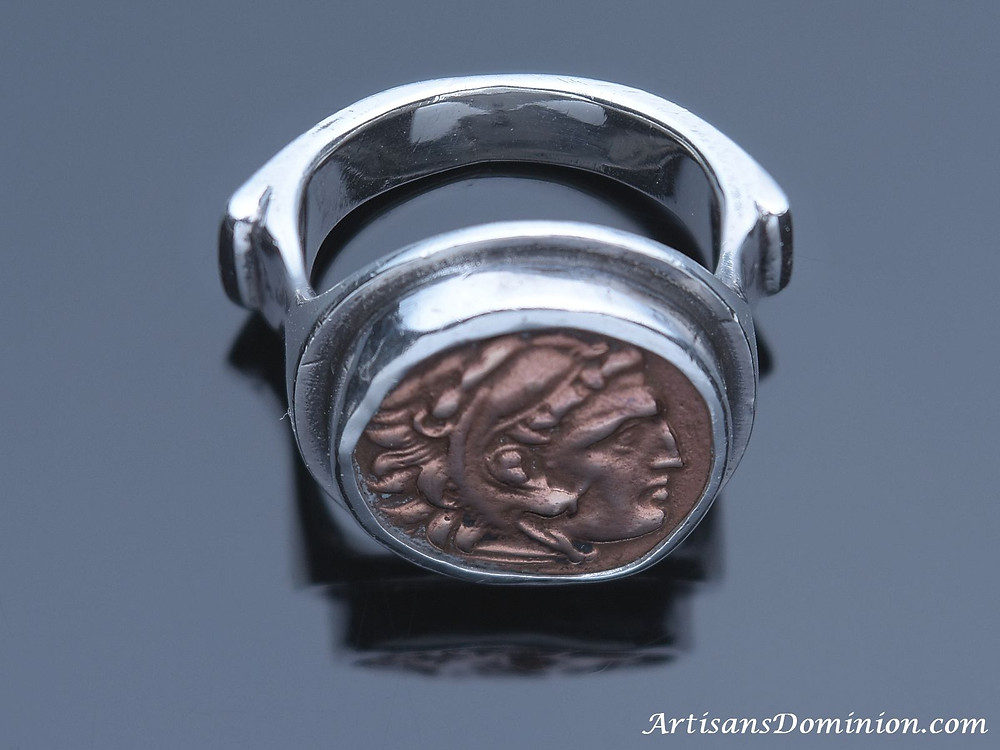Herakles & Zeus Drachm as a Signet Ring