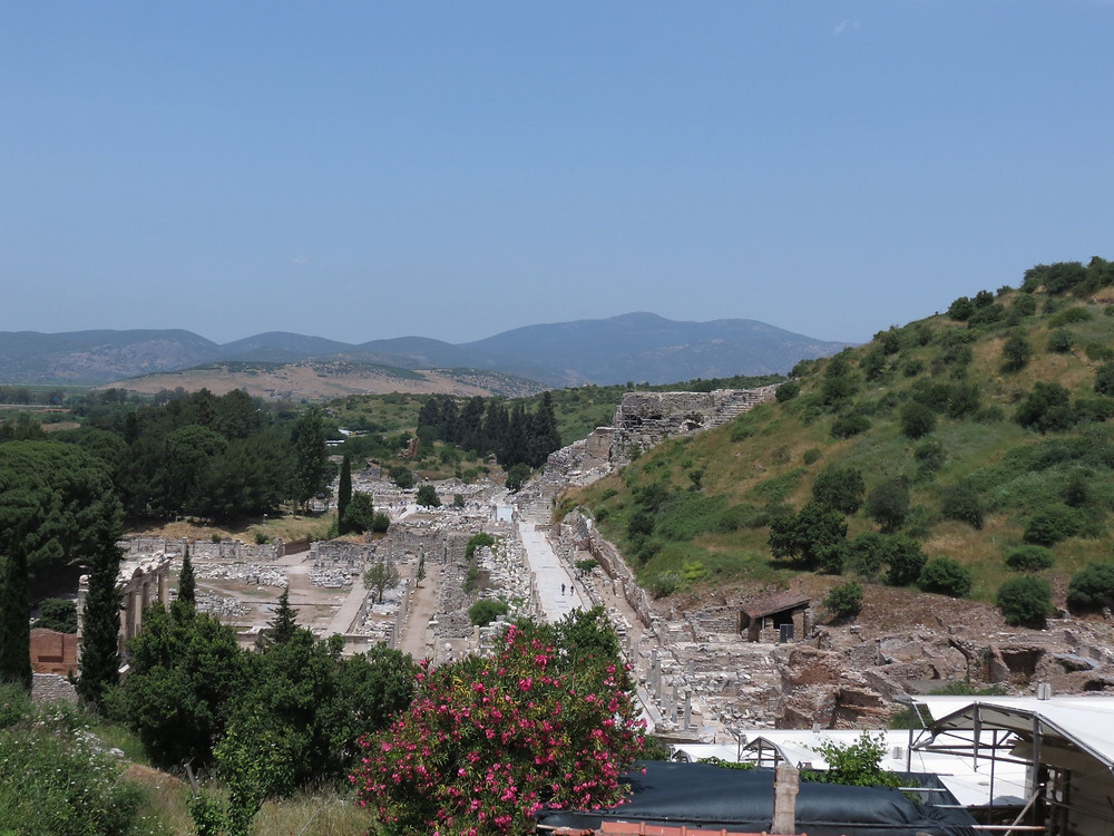 Ephesus view from Bulbul Mountain