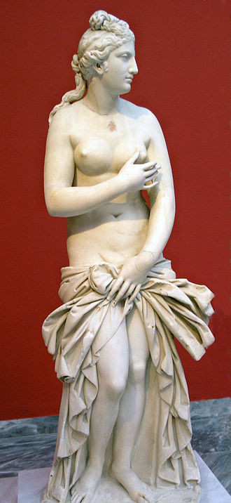 A Parian marble statue of Aphrodite, from Baiai in southern Italy