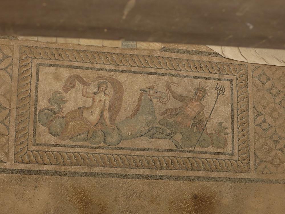 Ephesus Floor Mosaic with Poseidon