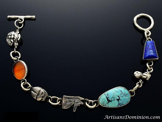 Silver Bracelet Inspired by Egyptian Jewelry