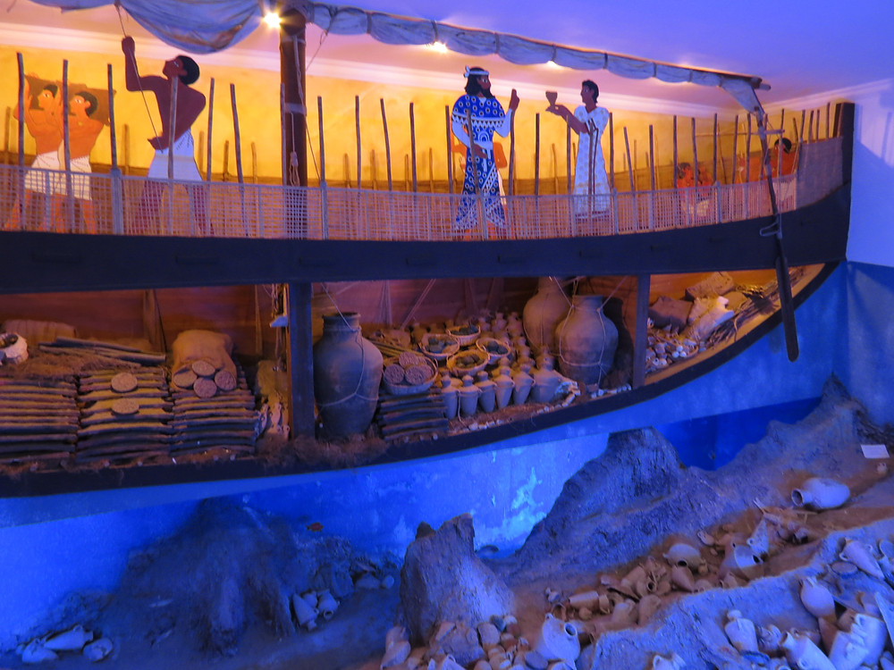 Uluburun Shipwreck Display at Bodrum Museum