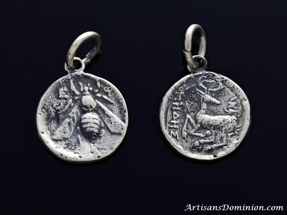 Ephesus Honeybee & Stag Tetradrachm Pendant
