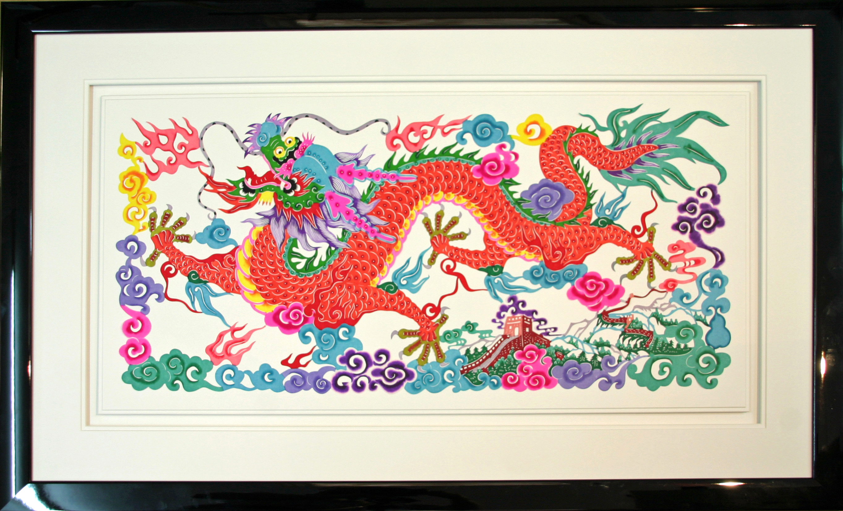 Chinese Dragon on Rice Paper.