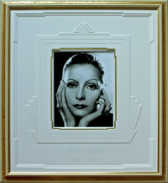 Greta Garbo Art Deco Award Winning Mount by David Wilkie