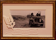 WWII SAS jeep North Africa 1942 creative framing design