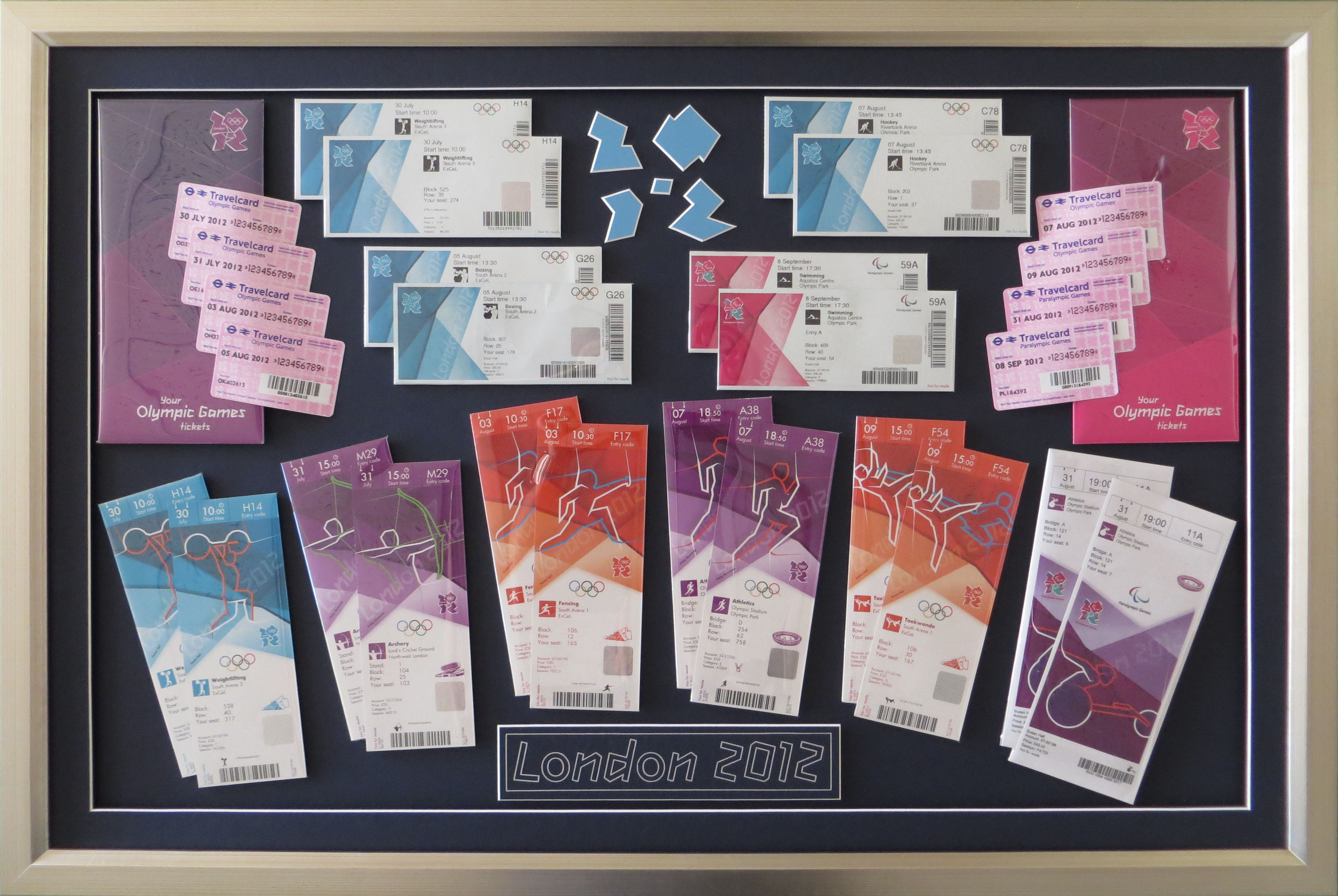 London Olympic Ticket Collection.