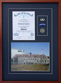 Airborne Certificate and Badges.