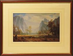 Bierstadt Print Line and Wash Mount