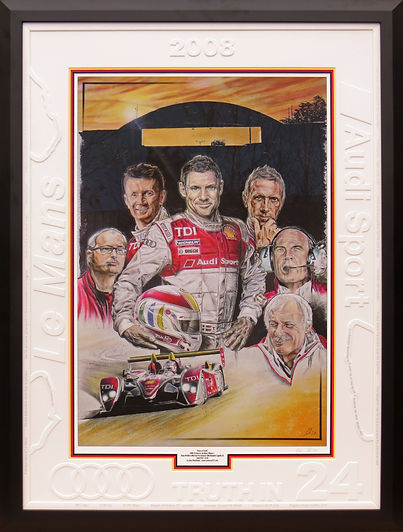 Truth In 24 Audi Sports Le Mans win 2008. Tom Kristensen Alan McNish Dindo Rinaldo