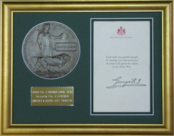WW1 Medallion and Letter.
