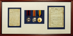 Medals with Citation and Record.
