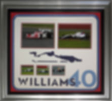 Williams 40th Celebrations British Grand Prix preview day Silverstone 2017