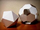 東村山 久米川 立体模型 正二十面体 正十二面体 切頂二十面体