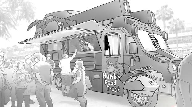 VOLTRON (Hunk's Food Truck)